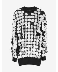 McQ Metallic Sequin Sweatshirt Dress
