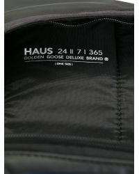 Haus By Golden Goose Deluxe Brand - Black Contrast Panelled Backpack for Men - Lyst