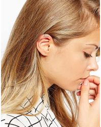 ASOS | Multicolor Gold Plated Sterling Silver Open Ear Cuff Pack | Lyst