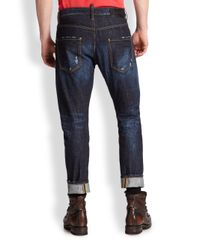 DSquared² - Blue Barbed Wire Denim Jeans for Men - Lyst