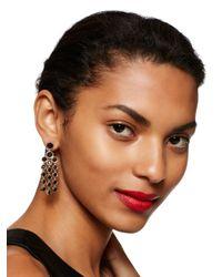 Kate Spade | Black Subtle Sparkle Chandelier Earrings | Lyst