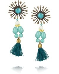 Isabel Marant - Blue Kayapo Goldtone Howlite Earrings - Lyst
