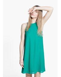Mango Green Sleeveless Dress