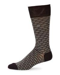 Calvin Klein | Black Space Dye Socks for Men | Lyst