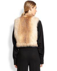 Tamara Mellon - Brown Fox Fur Knit Vest - Lyst