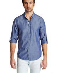 Guess Blue Carson Sportshirt for men