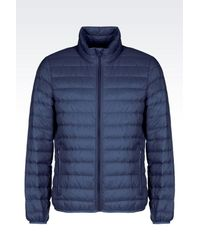 Armani Jeans - Blue Ultra Light Down Jacket With Special Packaging for Men - Lyst