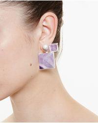 Volha - Pink Geometric Earrings - Lyst