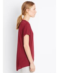 Vince - Red Rolled Sleeve Mouline Tee - Lyst