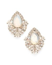 Samantha Wills | White 'fields Of Gold' Stud Earrings - Moonstone/ Silver | Lyst
