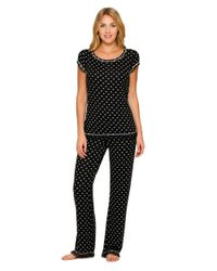 Kensie | Black Heart Short Sleeve Pajama Top | Lyst