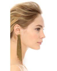 Erickson Beamon - Metallic Underground Chain Fringe Earrings - Lyst