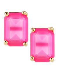 kate spade new york | Purple Emerald-cut Crystal Earrings | Lyst