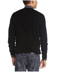 BOSS Orange - Black 'albinon' Sweater In Cotton Blend for Men - Lyst