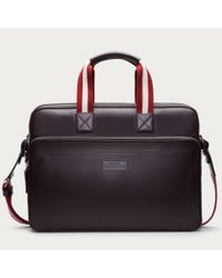 Bally Brown Thoron Men ́s Leather Business Bag In Chocolate for men