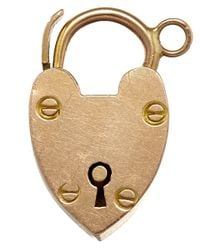Annina Vogel | Metallic Vintage Rose Gold Heart Lock Charm | Lyst