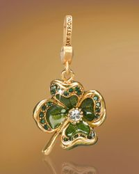 Jay Strongwater | Green Dhanya Four-leaf Clover Charm | Lyst