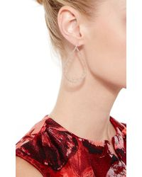 Joelle Jewellery | Metallic 18K Pink Gold Lace Drop Earrings | Lyst
