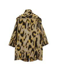 TOME | Multicolor Animal Jacquard Oversized Coat | Lyst