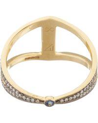 Noor Fares | Metallic Gold Rhombus Diamond Ring | Lyst