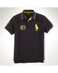 Polo Ralph Lauren Black Performance 67 Polo Shirt for men