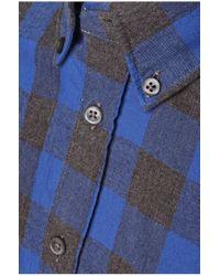 BOSS Orange Blue 'esecrete'   Slim Fit, Cotton Plaid Button Down Shirt for men