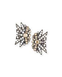 Lulu Frost - Metallic Larkspur Crystal Stud Earrings - Lyst