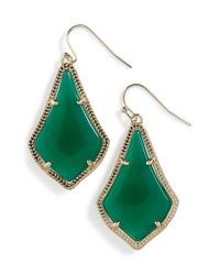 Kendra Scott | Green 'alex' Teardrop Earrings | Lyst