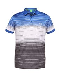 BOSS Green Blue Polo Shirt: 'paddy 3' In Cotton for men