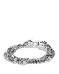 David Yurman | Metallic Eight-row Chain Bracelet With Diamonds | Lyst