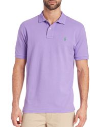 Polo Ralph Lauren Purple Slim-fit Polo for men