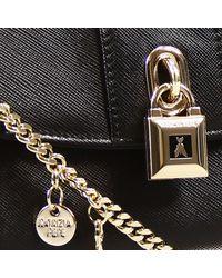 Patrizia Pepe | Black Mini Bags Bag Mini Pochette With Shoulder Leather Saffiano With Lock | Lyst