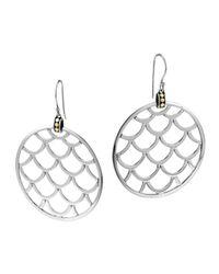 John Hardy - Metallic Naga Gold & Silver Large Round Earrings - Lyst