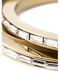DSquared² | Metallic Embellished Triple Bangle | Lyst