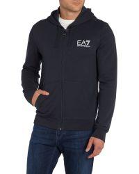 EA7 | Blue Print Zip Collar Zip Fastening Zip-thru for Men | Lyst