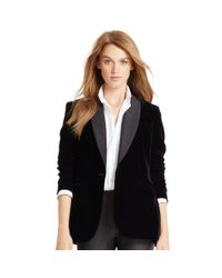 Polo Ralph Lauren | Black Velvet Shawl-collar Jacket | Lyst