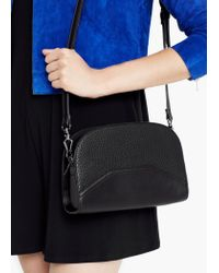 Mango - Black Top Handle Small Bag - Lyst