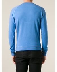 DSquared² - Blue Printed Sweatshirt for Men - Lyst