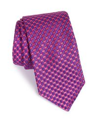 Ted Baker | Pink Geometric Woven Silk Tie for Men | Lyst