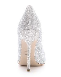 Sergio Rossi Metallic All Over Strass Pumps - Clear