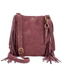 Lucky Brand | Purple Rickey Suede Fringe Mini Crossbody | Lyst