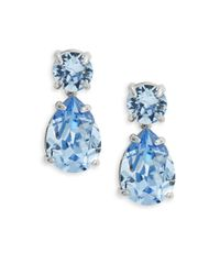 kate spade new york | Blue Fancy That Cubic Zirconia Earrings | Lyst