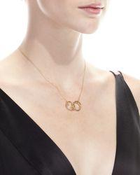 Borgioni   Metallic 18k Yellow Gold Pavé Diamond Handcuff Necklace   Lyst