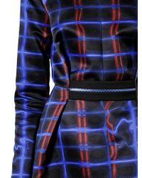 KENZO Blue Long Sleeve Techno Twill Dress