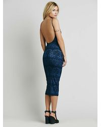 Free People - Blue Farrah Exclusive Spaghetti Dress - Lyst