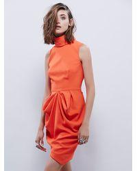 Free People Orange Finders Keepers Womens Pink Skies Dress