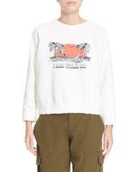 Sea - White 'i Need Vitamin ' Graphic Sweatshirt - Lyst