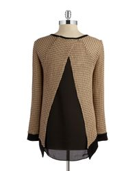 Lord & Taylor - Brown Layered-style Top - Lyst