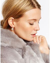 ASOS | Metallic Blush Swing Earrings | Lyst