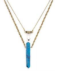 BaubleBar | Blue Bamm-bamm Layered Pendant | Lyst